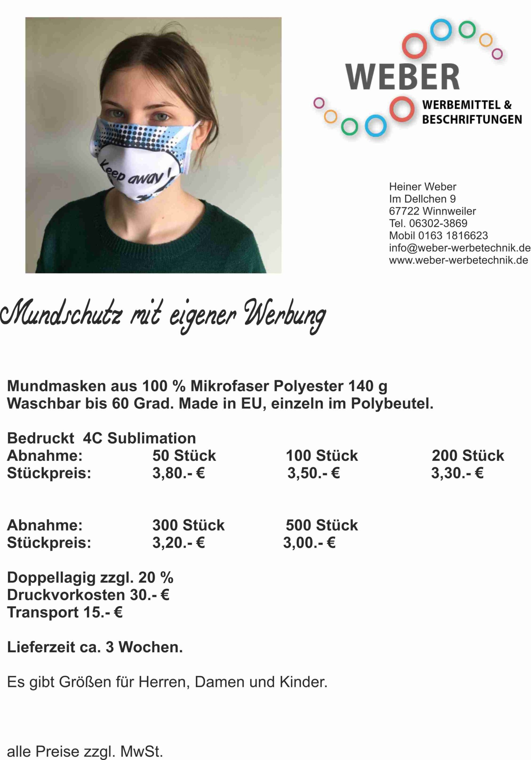 Munschutz Sublimation